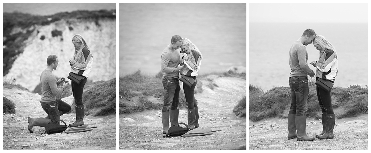 Old Harry's Rock Wedding Proposal