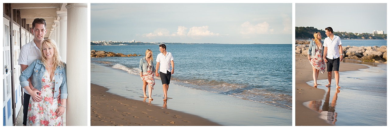 Sandbanks sunset engagement photography