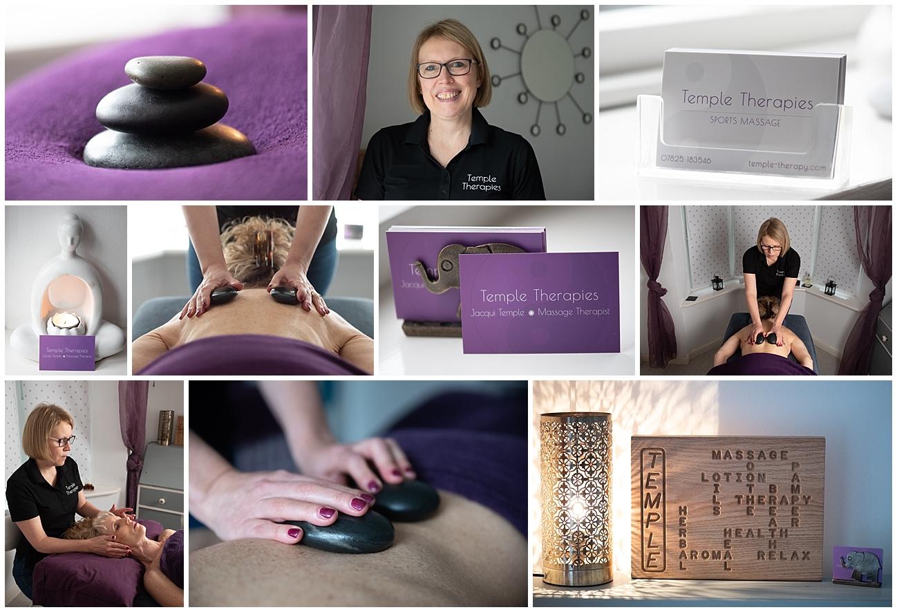 Hot stones massage therapy branding shoot