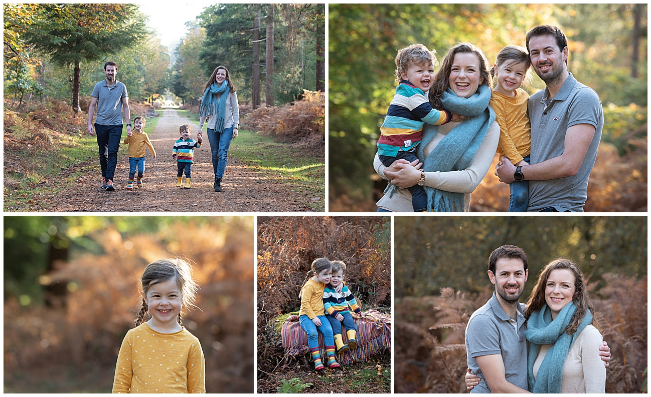 new forest family photos in autumn