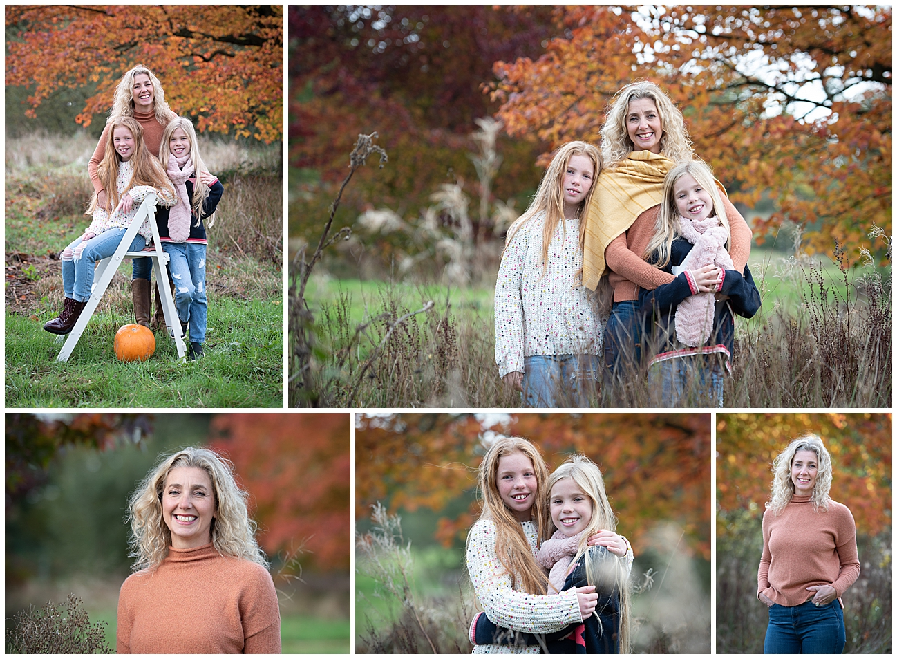family photography in autumn mum and daughters