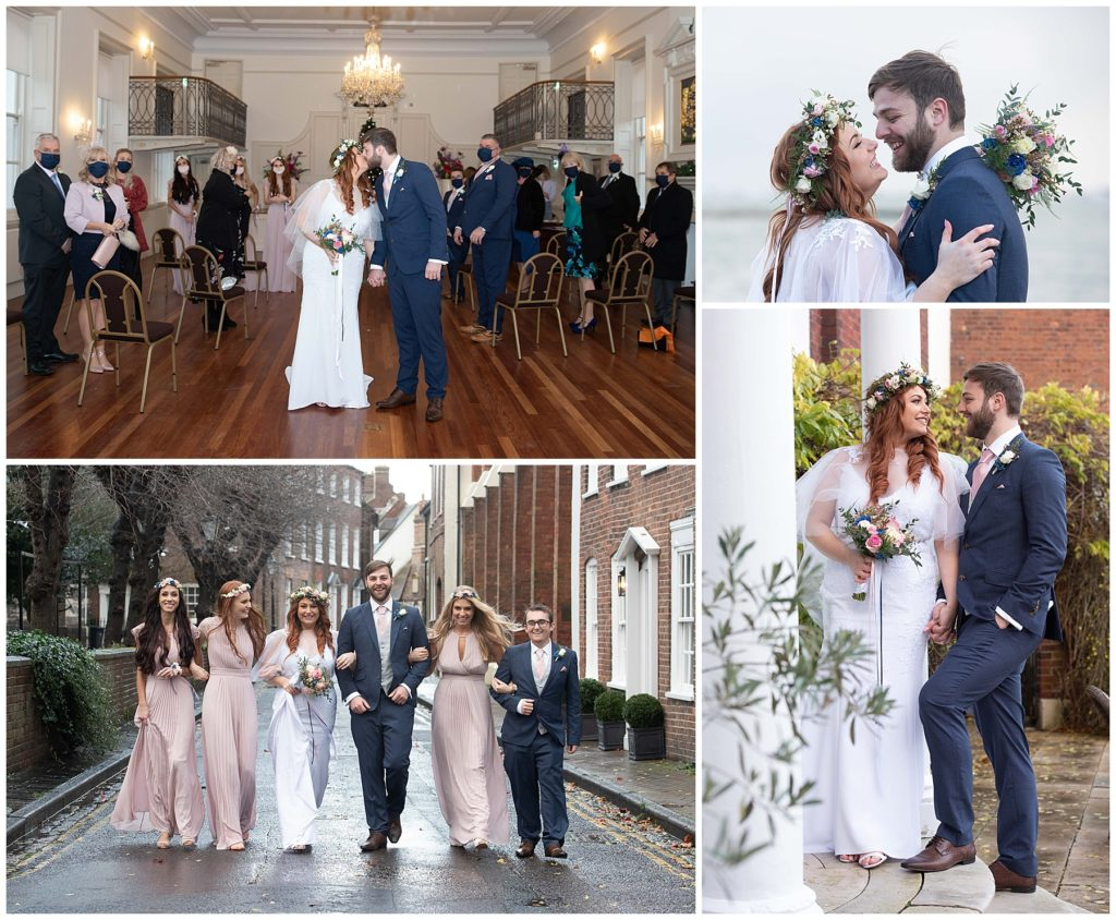 micro wedding at Poole registry office