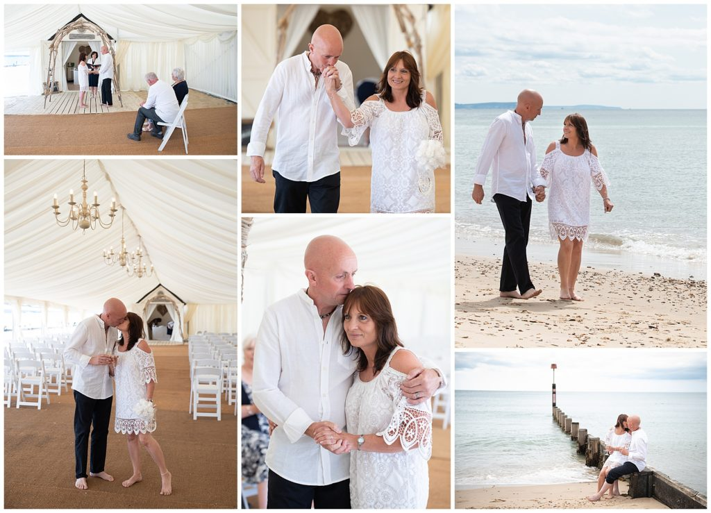 Micro beach wedding in Bournemouth