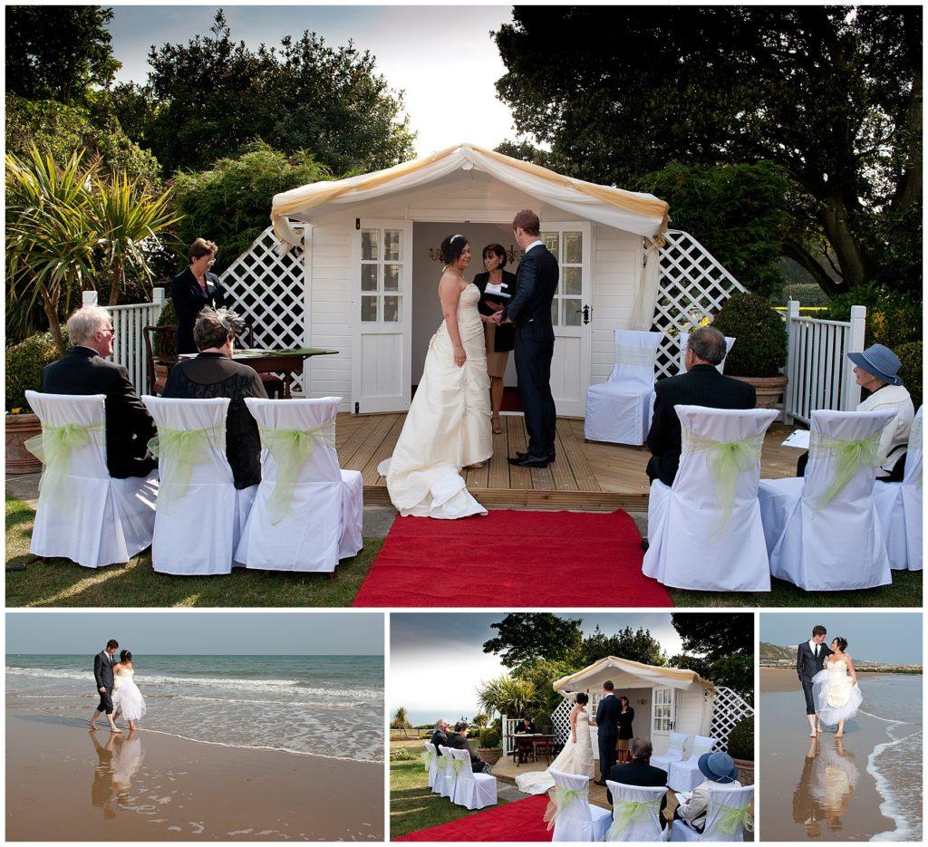 Bournemouth micro wedding Miramar Hotel
